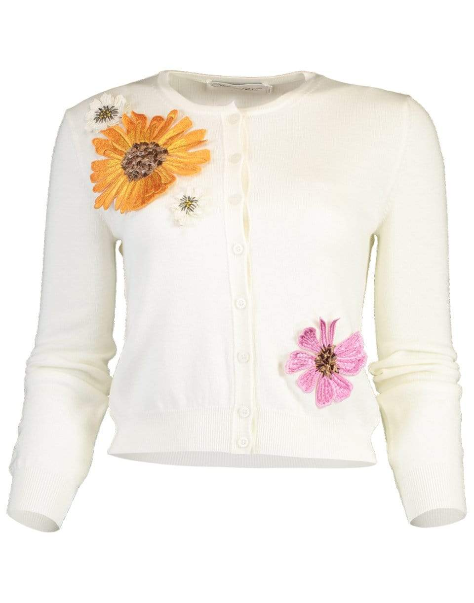 Image of Ombre Pressed Flower Cardigan