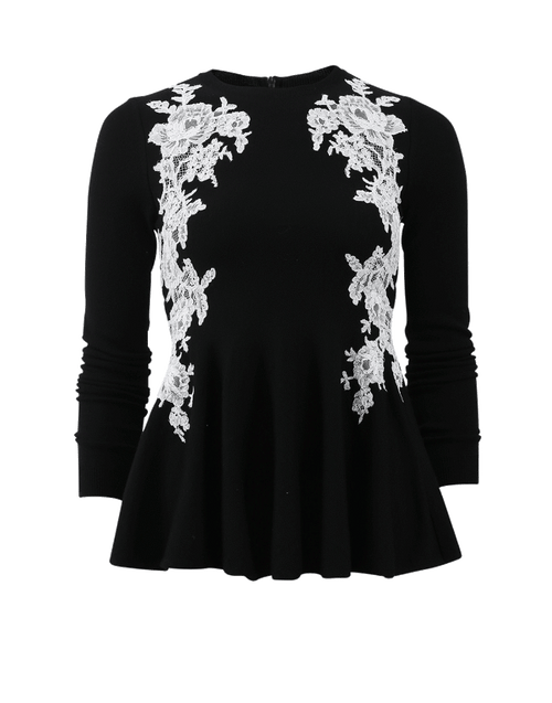 OSCAR DE LA RENTA CLOTHINGTOPKNITS Lace Knit Top