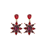 OSCAR DE LA RENTA JEWELRYBOUTIQUEEARRING HOT PINK Tropical Bloom Star Earrings