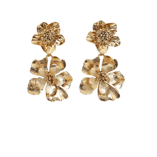 OSCAR DE LA RENTA JEWELRYBOUTIQUEEARRING LGHTGOLD / O/S Bold Flower Drop Earrings