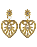OSCAR DE LA RENTA JEWELRYBOUTIQUEEARRING SILK Heart Drop Earrings