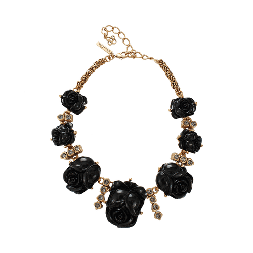 OSCAR DE LA RENTA JEWELRYBOUTIQUEMISC BLACK Resin Rose Necklace