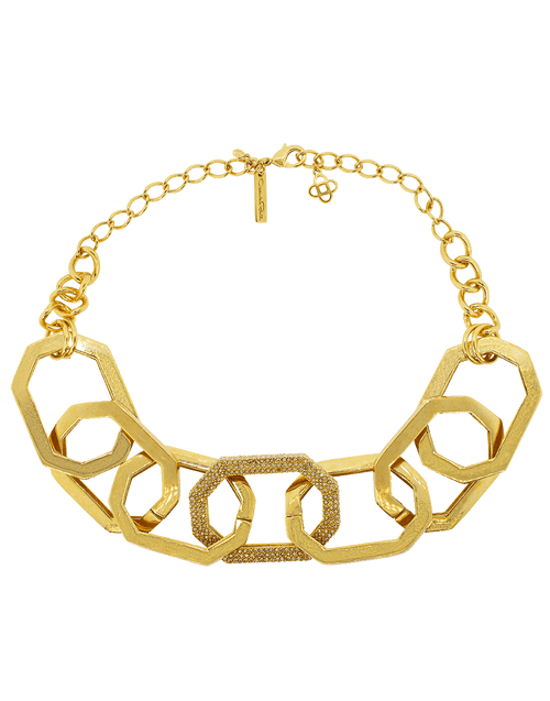 OSCAR DE LA RENTA JEWELRYBOUTIQUENECKLACE O GOLDSHDW Elongated Octagon Link Necklace