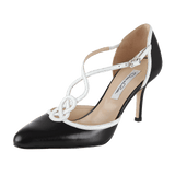 OSCAR DE LA RENTA SHOEPUMP Pointed Toe T-Strap Pump