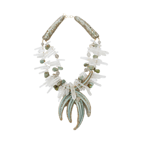 PETER CIESLA JEWELRYBOUTIQUENECKLACE O GRNTRQ Shell And Crystal Quartz Necklace