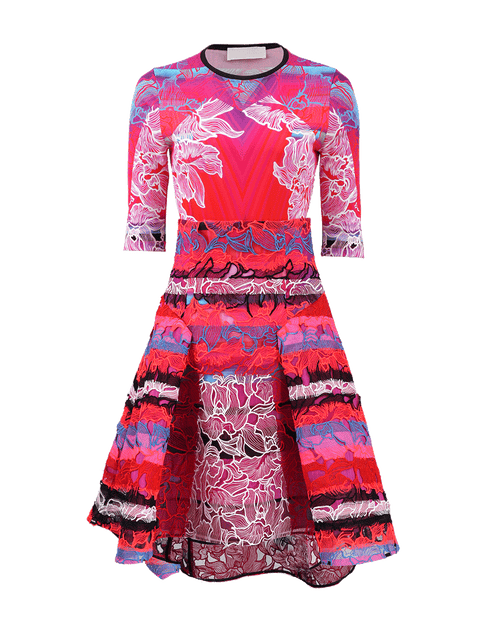 PETER PILOTTO CLOTHINGMISC ORCHPINK / 8 Jersey Top With Radial Skirt