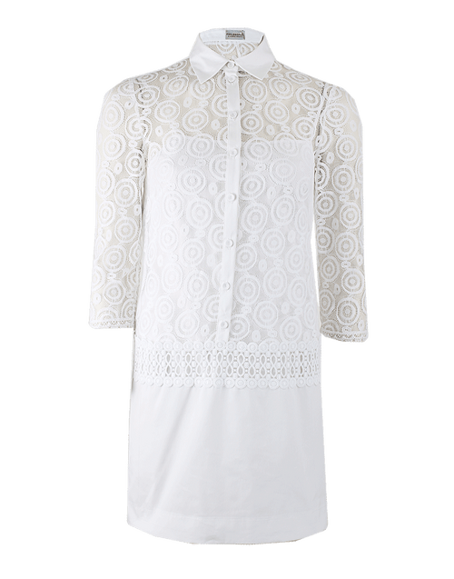 PHILOSOPHY CLOTHINGDRESSCASUAL Quarter Sleeve Henley Lace Dress