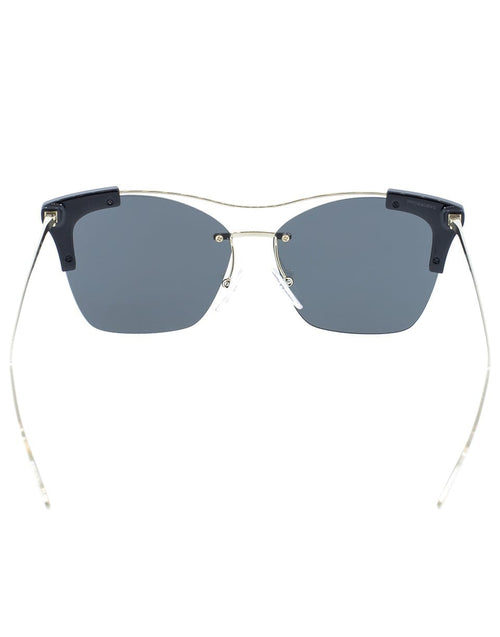 PRADA ACCESSORIESUNGLASSES BLK/GLD Black Semi Rimless Sunglasses