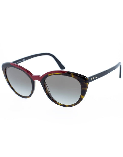 PRADA ACCESSORIESUNGLASSES RED Red and Tortoise Slim Cat Eye Sunglasses