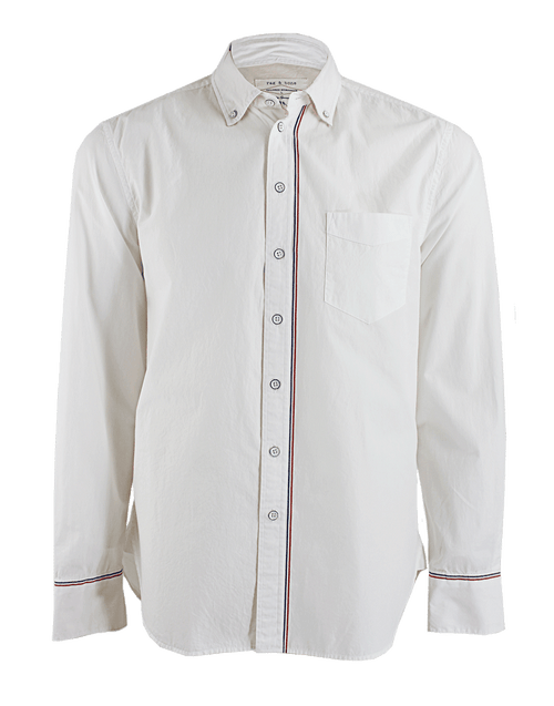 RAG & BONE MENSCLOTHINGSHIRT Men's Button Down Pin Stripe Shirt