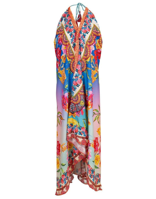RANEES CLOTHINGDRESSCASUAL PASTEL / O/S Pastel Hawaii V-Neck Long Halter Dress
