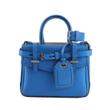 REED KRAKOFF HANDBAGSHOULDER ROYALBLU Pebble Grain Boxer Bag