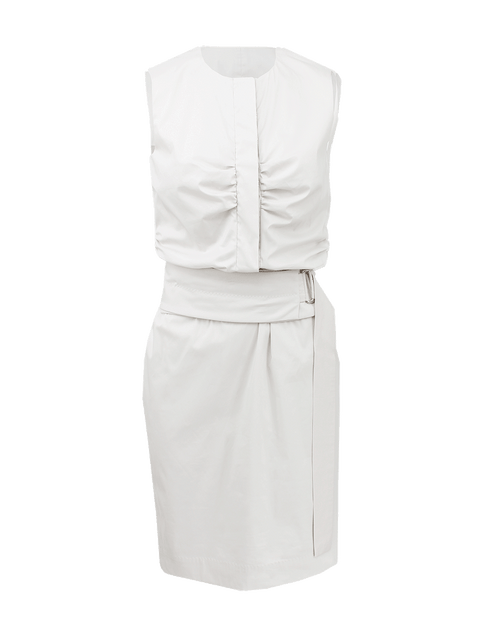 RENE LEZARD CLOTHINGDRESSCASUAL Crewneck Ruched Dress With Belt