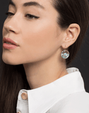 RENEE LEWIS JEWELRYFINE JEWELEARRING WHTGOLD Opal, Aquamarine, Turquoise and Diamond Skake Earrings