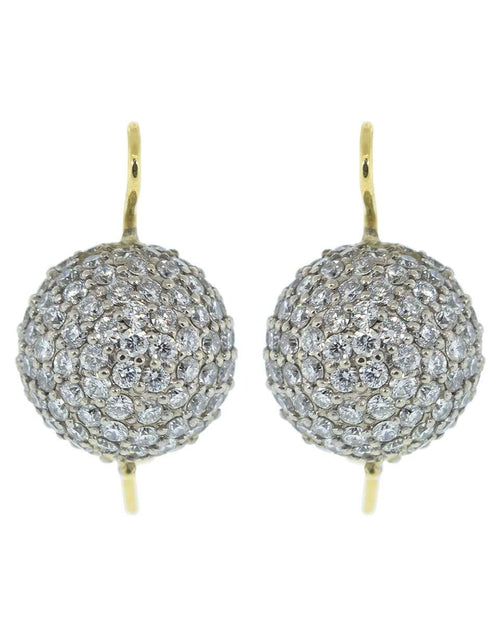 RENEE LEWIS JEWELRYFINE JEWELEARRING YLWGOLD Diamond Sphere Earrings