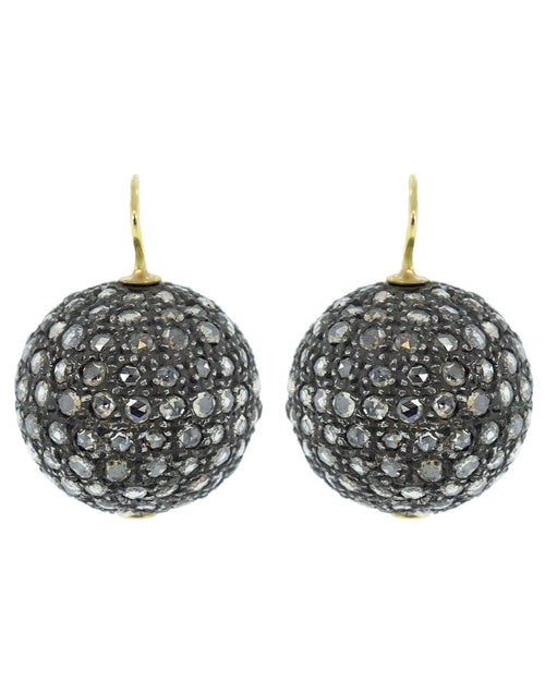 RENEE LEWIS JEWELRYFINE JEWELEARRING YLWGOLD Rose Cut Diamond Sphere Earrings