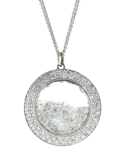 RENEE LEWIS JEWELRYFINE JEWELNECKLACE O WHTGOLD Diamond Shake Necklace