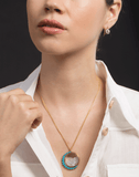 RENEE LEWIS JEWELRYFINE JEWELNECKLACE O YLWGOLD Persian Turquoise and Diamond Shake Necklace