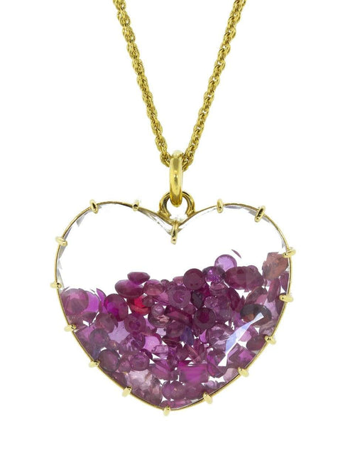 RENEE LEWIS JEWELRYFINE JEWELNECKLACE O YLWGOLD Ruby Heart Shake Necklace
