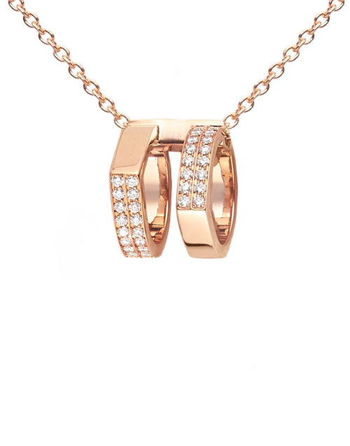 REPOSSI JEWELRYFINE JEWELNECKLACE O ROSEGOLD Antifer Pave Diamond Pendant Necklace