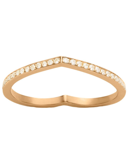 REPOSSI JEWELRYFINE JEWELRING ROSEGOLD / 6.25 Rose Gold Antifer Pave Diamond Heart Ring