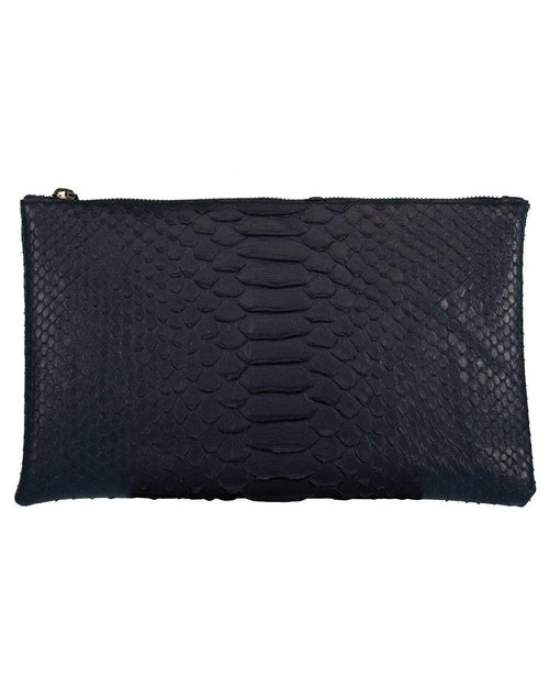RIVERS EIGHT HANDBAGCLUTCHES MIDBLUE Blue Small Python Effect Clutch