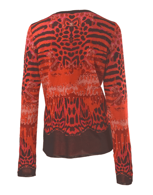 ROBERTO CAVALLI CLOTHINGTOPCARDIGAN Luxe Animal Jacquard Cardigan