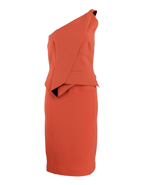 ROLAND MOURET CLOTHINGDRESSCASUAL One-Shoulder Crepe Honey Dress