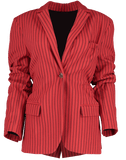 ROSIE ASSOULIN CLOTHINGJACKETBLAZERS The Scrunchy Striped Blazer