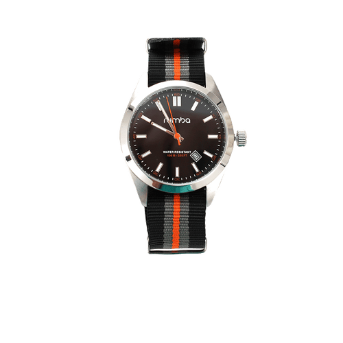 RUMBATIME ACCESSORIEWATCHES BLK/ORNG Bowery Watch