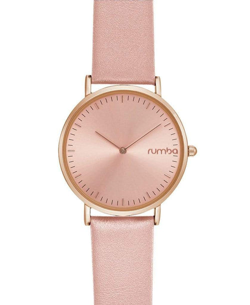 RUMBATIME ACCESSORIEWATCHES BLUSH Soho Leather Watch