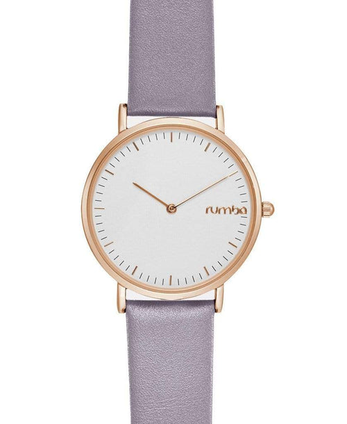 RUMBATIME ACCESSORIEWATCHES LILAC Soho Leather Watch