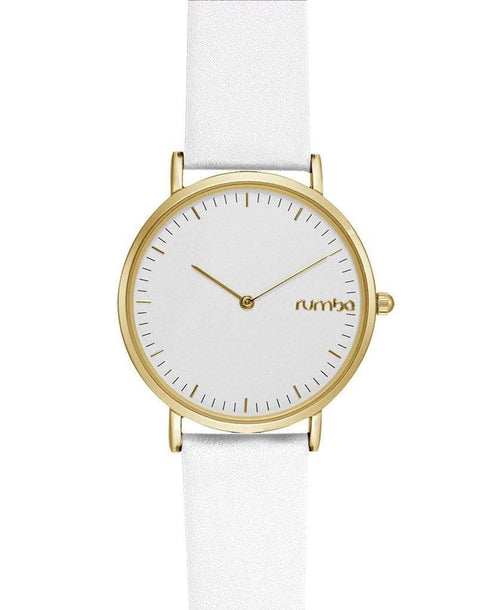 RUMBATIME ACCESSORIEWATCHES WHITE Soho Leather Watch