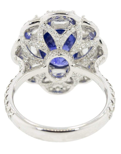 SABOO FINE JEWELS JEWELRYFINE JEWELRING WHTGOLD / 5.75 Oval Sapphire and Diamond Ring