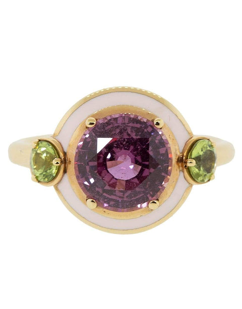 SELIM MOUZANNAR JEWELRYFINE JEWELRING ROSEGOLD / 5 Pink Sapphire and Enamel Ring