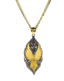 SEVAN BICAKCI JEWELRYFINE JEWELNECKLACE O YLWGOLD Carved Parrot Pendant Necklace