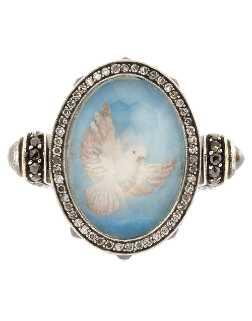 SEVAN BICAKCI JEWELRYFINE JEWELRING YLWGOLD / 4.5 Flying Dove Flip Ring