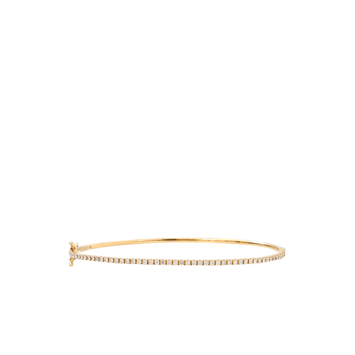 SHAY JEWELRY JEWELRYFINE JEWELBRACELET O YLWGOLD Single Row Pave Diamond Bangle