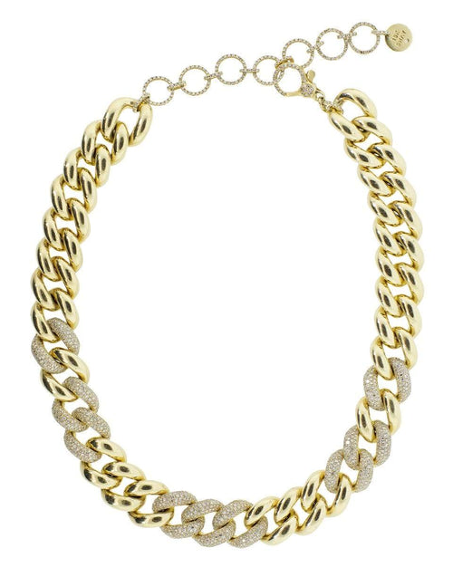 SHAY JEWELRY JEWELRYFINE JEWELNECKLACE O YLWGOLD Jumbo Alternating Diamond Link Necklace