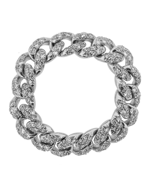 SHAY JEWELRY JEWELRYFINE JEWELRING WHTGOLD / 5.75 Diamond Pave Mini Link Ring