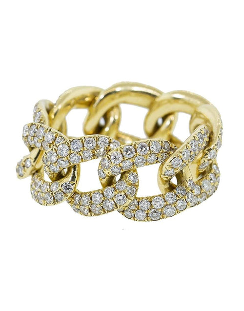 SHAY JEWELRY JEWELRYFINE JEWELRING YLWGOLD / 6.75 Diamond Pave Link Ring