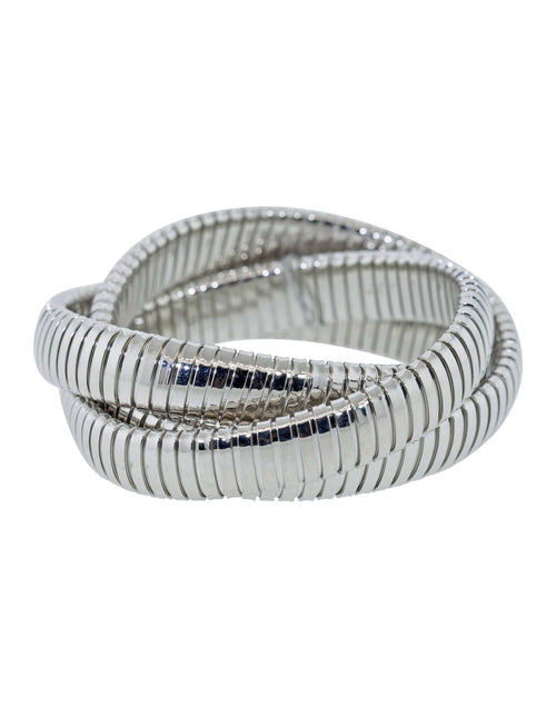 SIDNEY GARBER JEWELRYFINE JEWELBRACELET O WHTGOLD 12MM White Gold Three Band Rolling Bracelet