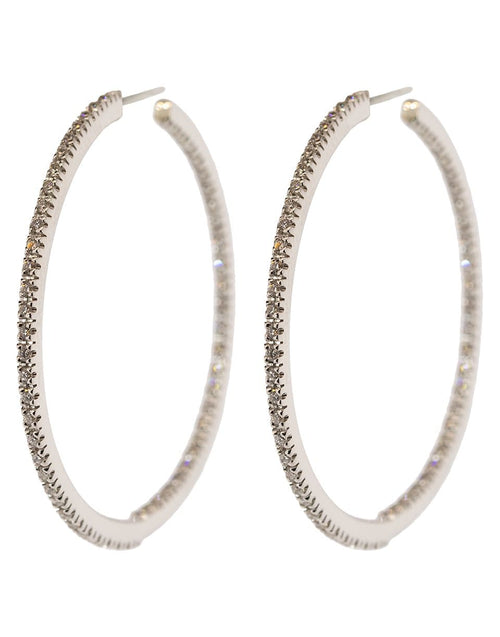 SIDNEY GARBER JEWELRYFINE JEWELEARRING WHTGOLD Small Perfect Diamond Hoop Earrings