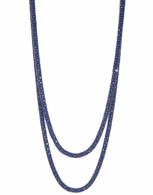 SIDNEY GARBER JEWELRYFINE JEWELNECKLACE O WHTGOLD Sapphire Rope Necklace