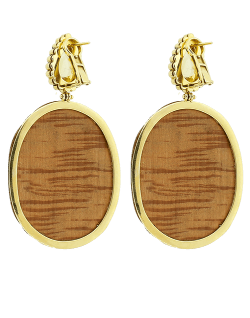 SILVIA FURMANOVICH JEWELRYFINE JEWELEARRING YLWGOLD Marquetry Floral Earrings