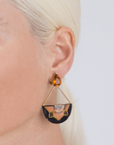 SILVIA FURMANOVICH JEWELRYFINE JEWELEARRING YLWGOLD Marquetry Half Flower Citrine Earrings