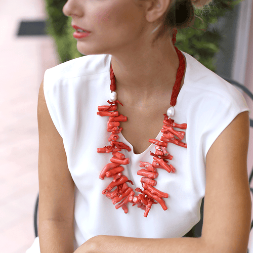 SILVIA FURMANOVICH JEWELRYFINE JEWELNECKLACE O YLWGOLD Coral Branch Necklace