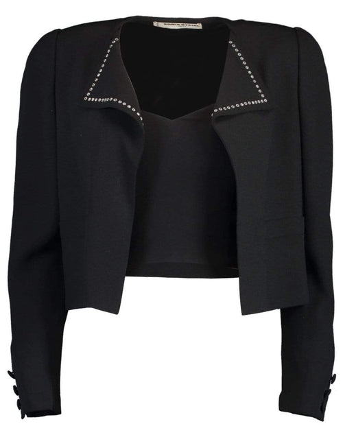 SONIA RYKIEL CLOTHINGJACKETMISC BLACK / 40 Stud Detail Jacket with Bustier