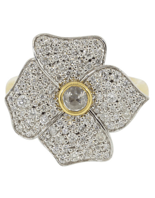 SORELLINA JEWELRYFINE JEWELRING YLWGOLD / 6 Hail Storm Diamond Flower Ring