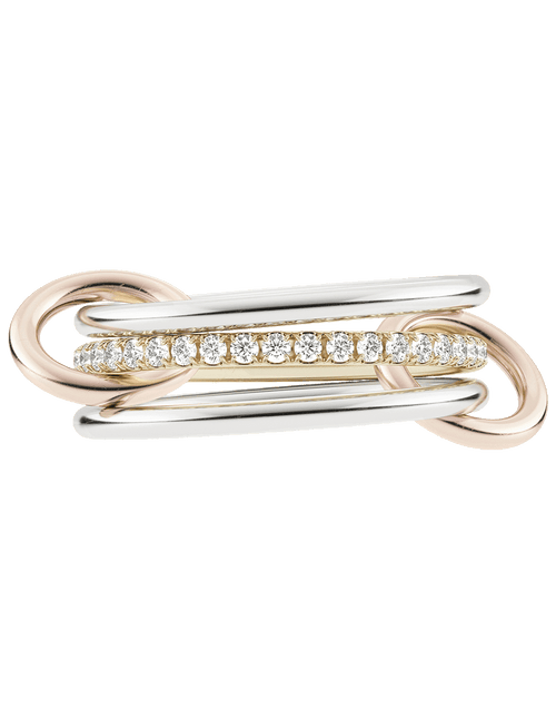 SPINELLI KILCOLLIN JEWELRYFINE JEWELRING ROSEGOLD / 8 Three Linked Sonny Rings